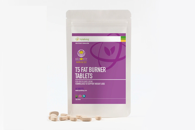 60-Day Supply T5 'Fat Burner' Supplement Tablets | Wowcher