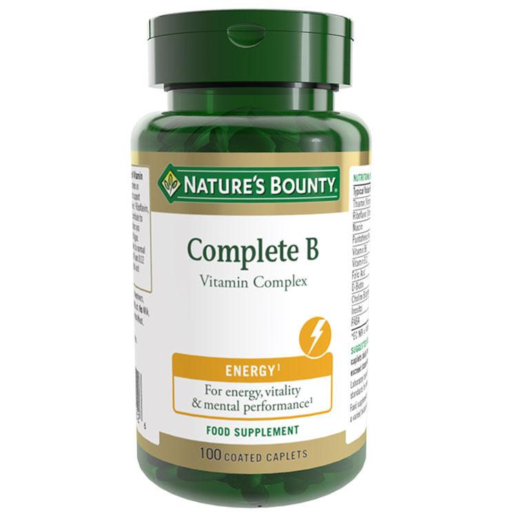 Natures Bounty Complete B Vitamin Complex - 100 Tablets